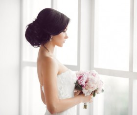 Beautiful and charming bride Stock Photo 03