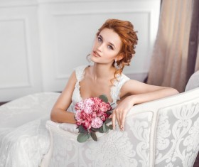 Beautiful and charming bride Stock Photo 04