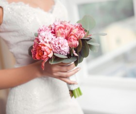 Beautiful and charming bride Stock Photo 05