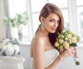 Beautiful and charming bride Stock Photo 08