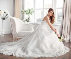 Beautiful and charming bride Stock Photo 09