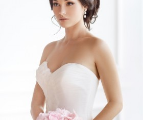 Beautiful and charming bride Stock Photo 11