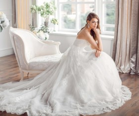 Beautiful and charming bride Stock Photo 12