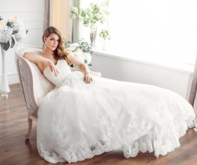 Beautiful and charming bride Stock Photo 13