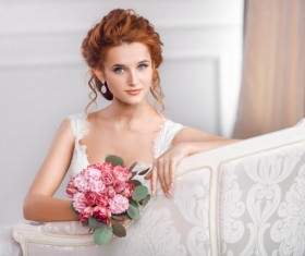 Beautiful and charming bride Stock Photo 14