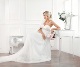 Beautiful and charming bride Stock Photo 17