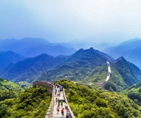 Beautiful and spectacular Great Wall of China Stock Photo