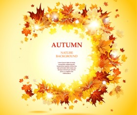 Beautiful autumn nature background vector 01