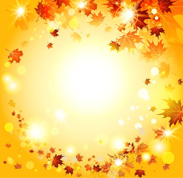 Beautiful autumn nature background vector 03