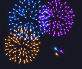 Beautiful festival fireworks effect vectors material 01