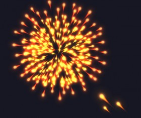 Beautiful festival fireworks effect vectors material 02
