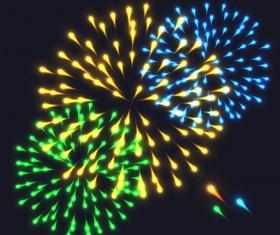 Beautiful festival fireworks effect vectors material 03