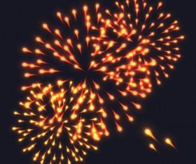 Beautiful festival fireworks effect vectors material 04