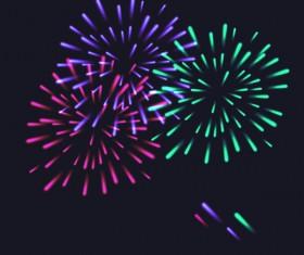 Beautiful festival fireworks effect vectors material 05