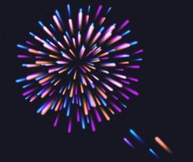 Beautiful festival fireworks effect vectors material 06