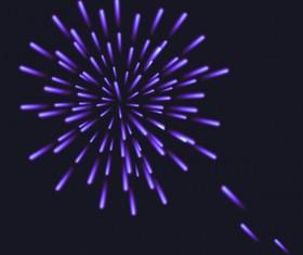 Beautiful festival fireworks effect vectors material 07