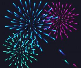 Beautiful festival fireworks effect vectors material 08