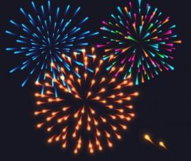 Beautiful festival fireworks effect vectors material 09