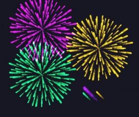 Beautiful festival fireworks effect vectors material 10