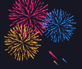 Beautiful festival fireworks effect vectors material 12