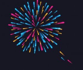 Beautiful festival fireworks effect vectors material 13