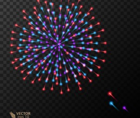 Beautiful festival fireworks effect vectors material 14