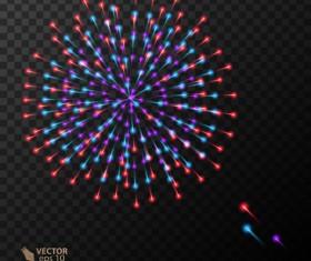 Beautiful festival fireworks effect vectors material 14