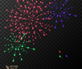 Beautiful festival fireworks effect vectors material 15