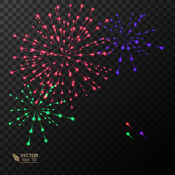 Beautiful festival fireworks effect vectors material 15
