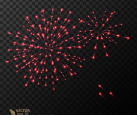 Beautiful festival fireworks effect vectors material 16