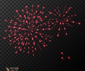Beautiful festival fireworks effect vectors material 16