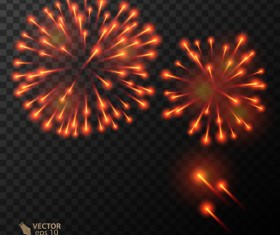 Beautiful festival fireworks effect vectors material 17