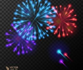 Beautiful festival fireworks effect vectors material 18