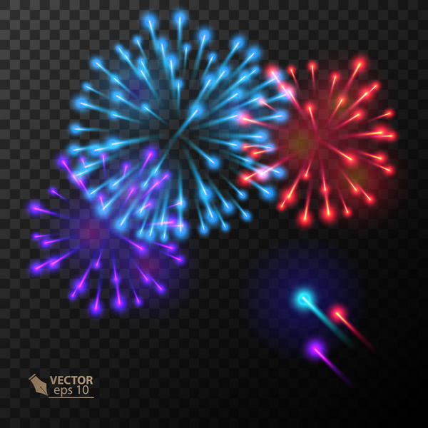 Beautiful festival fireworks effect vectors material 18