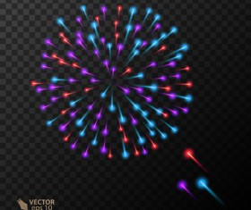 Beautiful festival fireworks effect vectors material 19