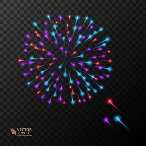 Beautiful festival fireworks effect vectors material 19