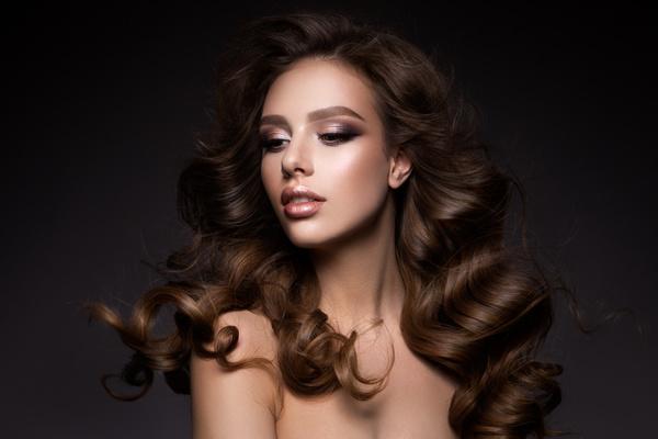 Beautiful makeup young woman Stock Photo 01