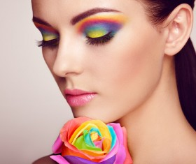 Beautiful makeup young woman Stock Photo 02