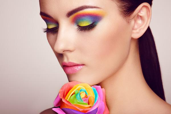 Beautiful makeup young woman Stock Photo 02