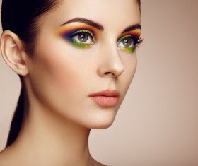 Beautiful makeup young woman Stock Photo 04