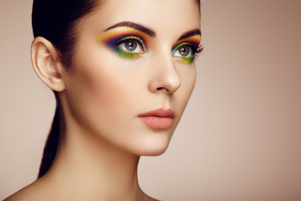 Beautiful makeup young woman Stock Photo 04