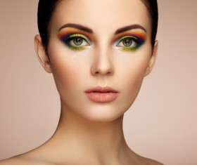 Beautiful makeup young woman Stock Photo 05