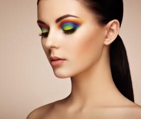 Beautiful makeup young woman Stock Photo 06