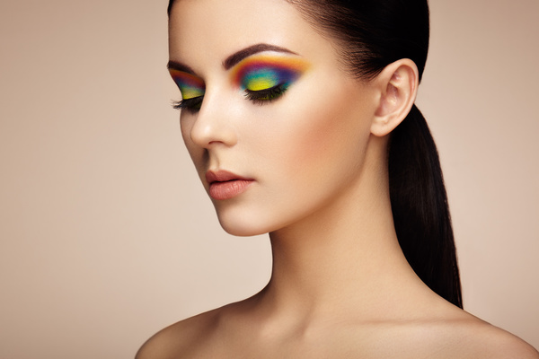 Beautiful makeup young woman Stock Photo 06