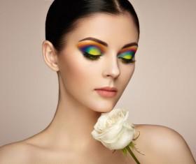 Beautiful makeup young woman Stock Photo 07