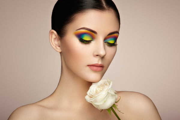 Beautiful makeup young woman Stock Photo 07