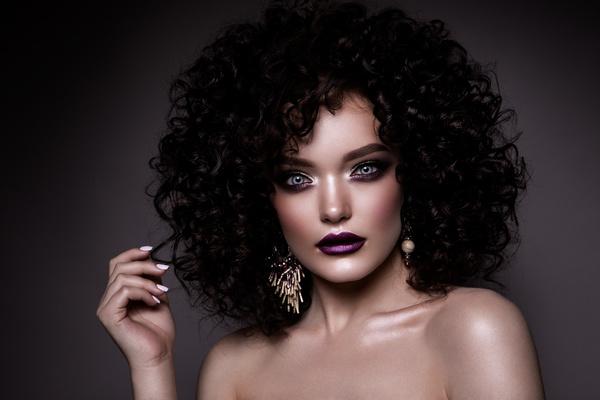 Beautiful makeup young woman Stock Photo 09