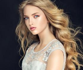 Beautiful makeup young woman Stock Photo 13