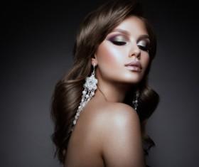 Beautiful makeup young woman Stock Photo 14