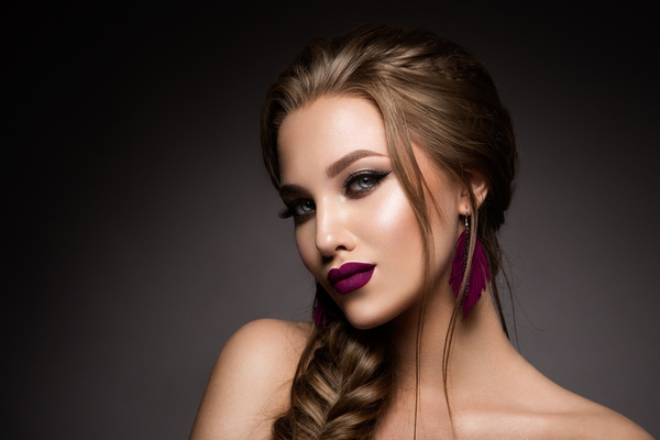 Beautiful makeup young woman Stock Photo 15